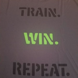 Other - TRAIN WIN REPEAT Gym Exercise Running Tee Shirt